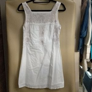 Tory Burch white and cream embroidered dress.